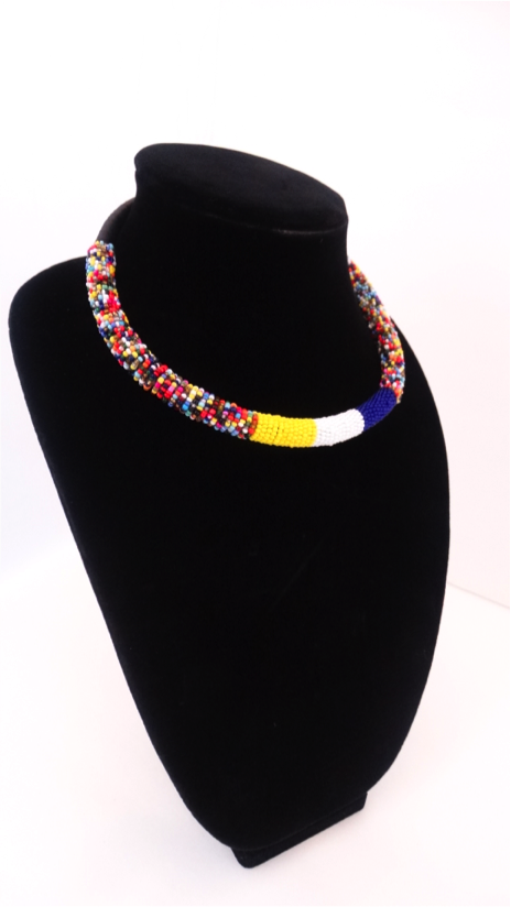 Luxury Masai Beaded Rope Necklace - A'Maze Africa - 3