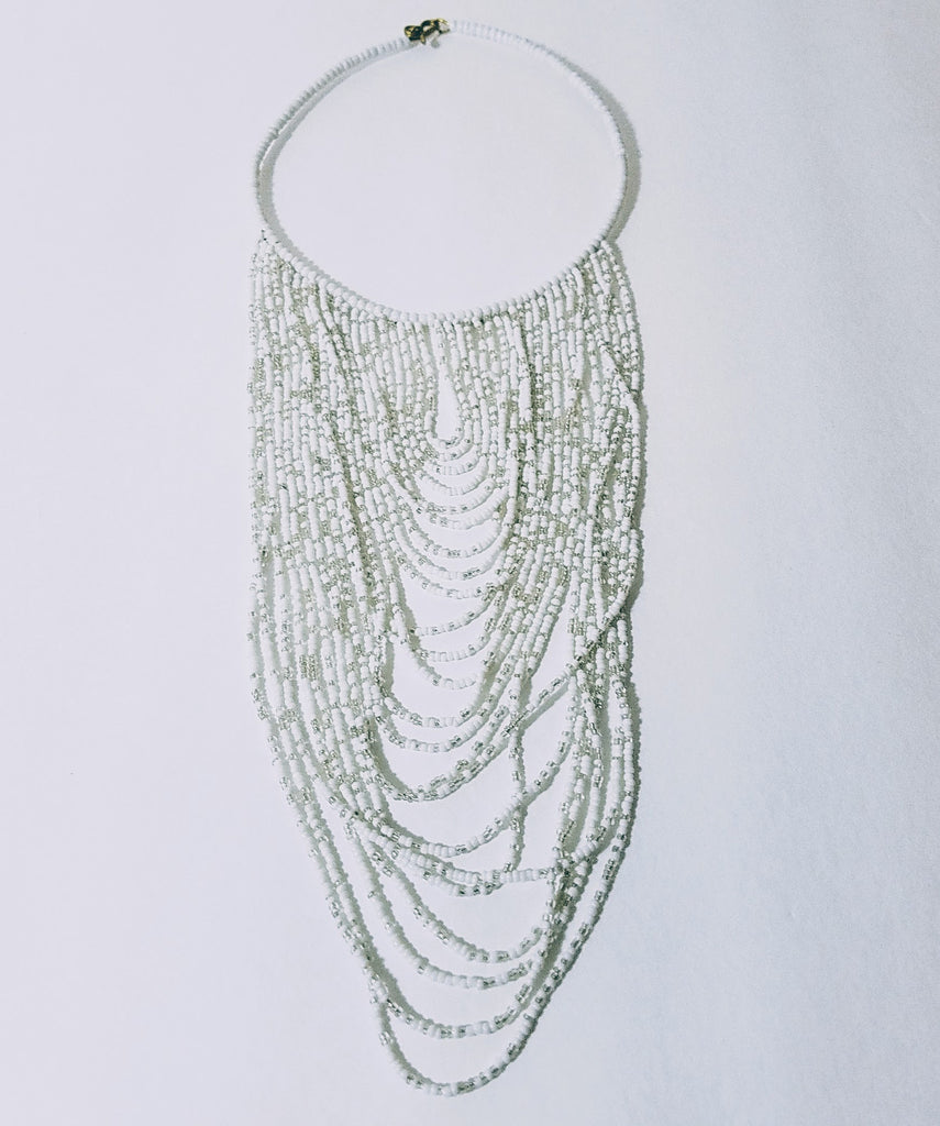 Masai White Necklace - A'Maze Africa - 2