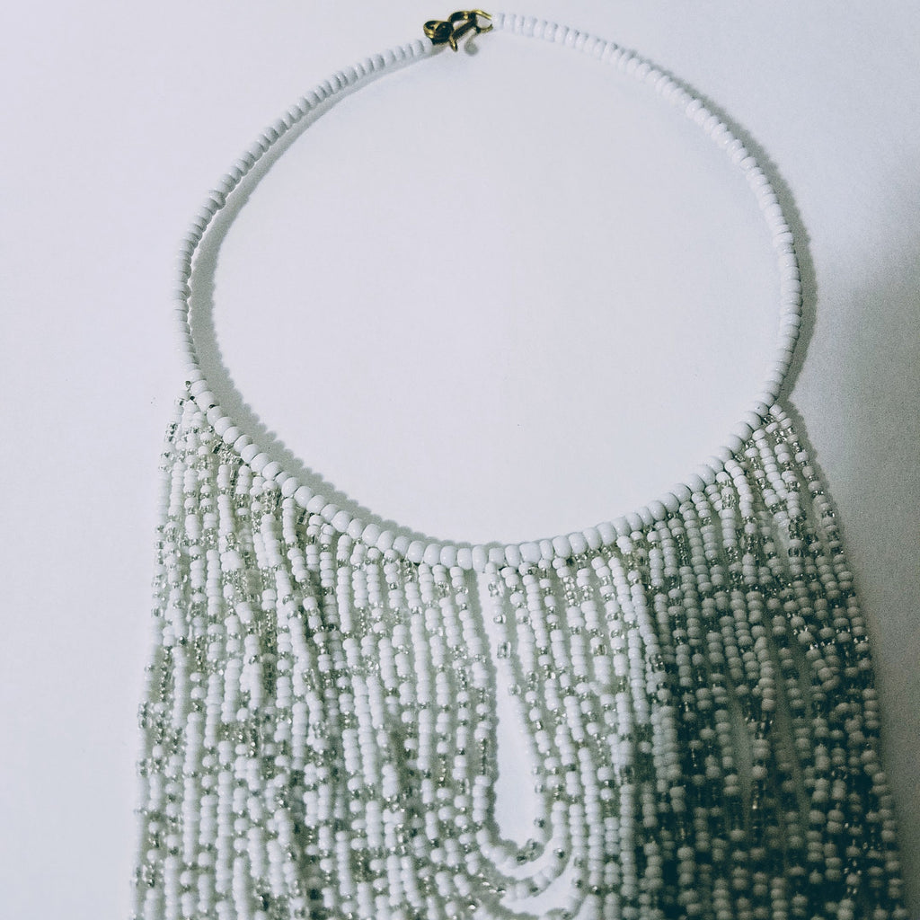 Masai White Necklace - A'Maze Africa - 3