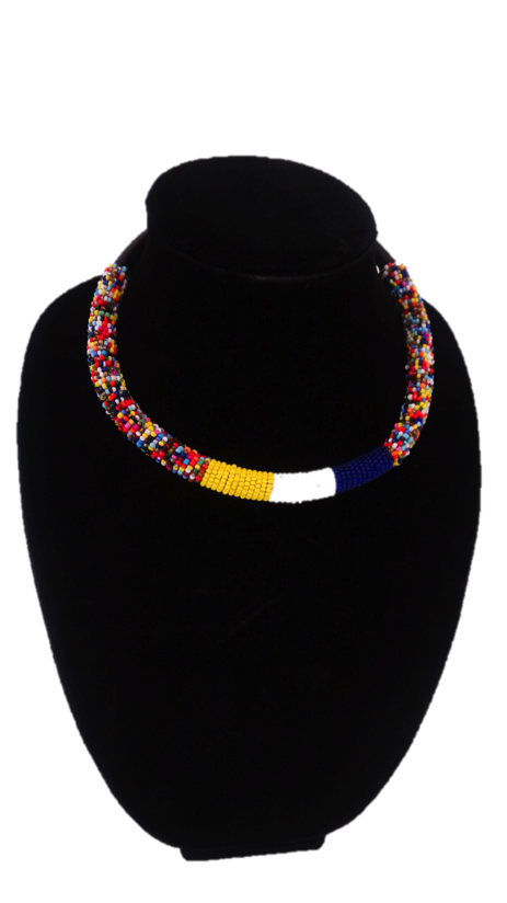 Luxury Masai Beaded Rope Necklace - A'Maze Africa - 6