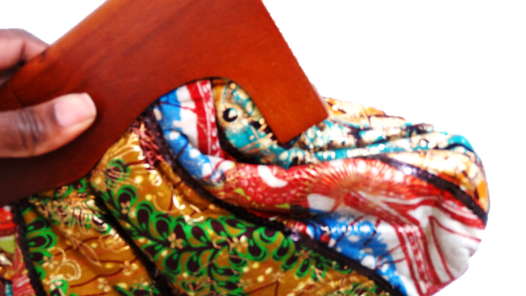 Clasp Wooden Handle Ankara Clutch - A'Maze Africa - 2