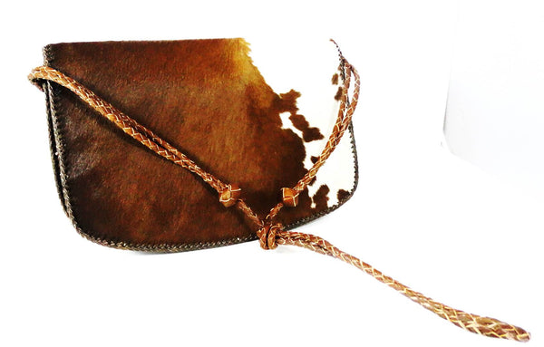 Tri Color Hair On Cowhide Leather Bag - A'Maze Africa - 1