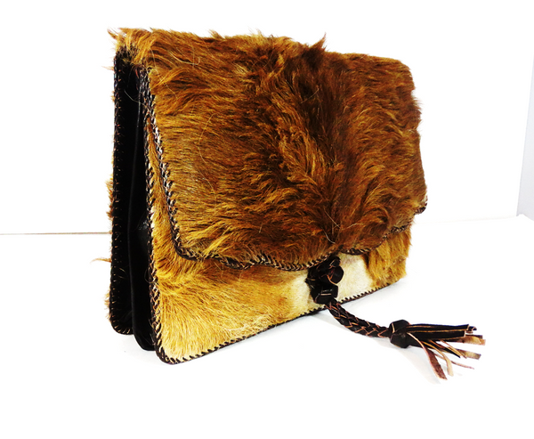 Camel Hair On Cowhide Leather Bag - A'Maze Africa - 1