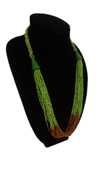 African Braided Beaded Necklace - A'Maze Africa