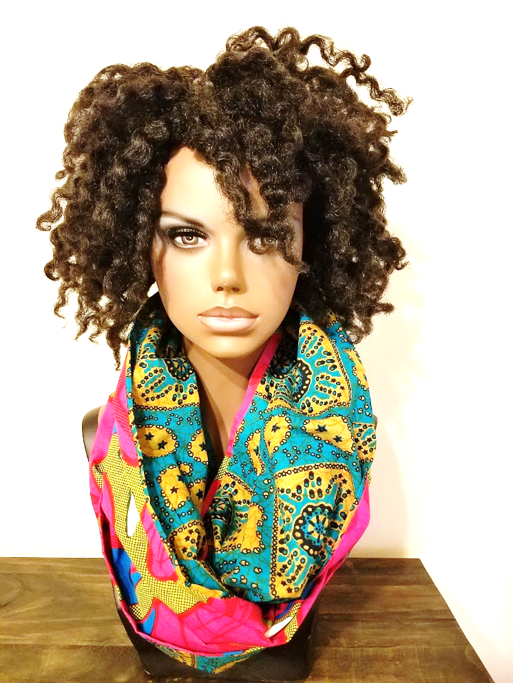 Aduke - African Print Infinity Scarf - A'Maze Africa - 1