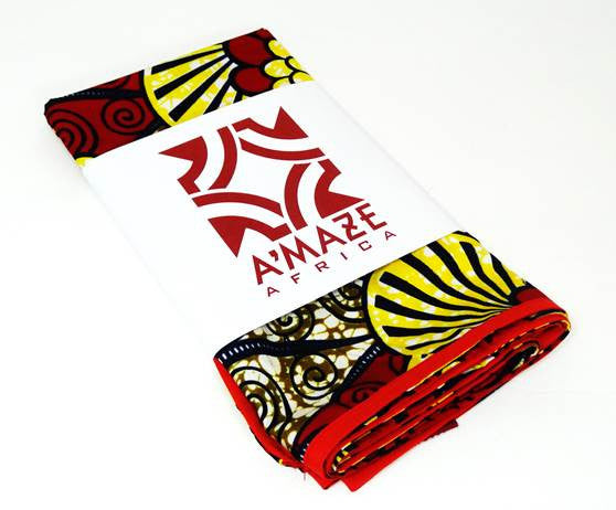 African Print Head Wrap - Visions - A'Maze Africa - 4