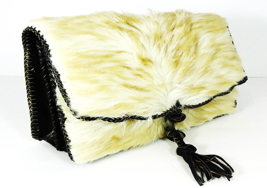 White Camel Hair On Cowhide Leather Bag - A'Maze Africa - 4