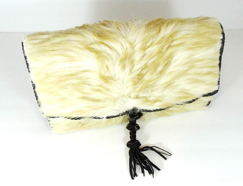 White Camel Hair On Cowhide Leather Bag - A'Maze Africa - 5