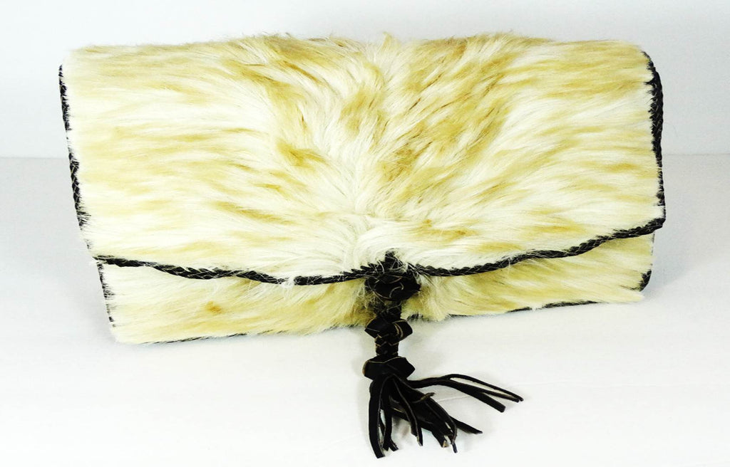 White Camel Hair On Cowhide Leather Bag - A'Maze Africa - 2