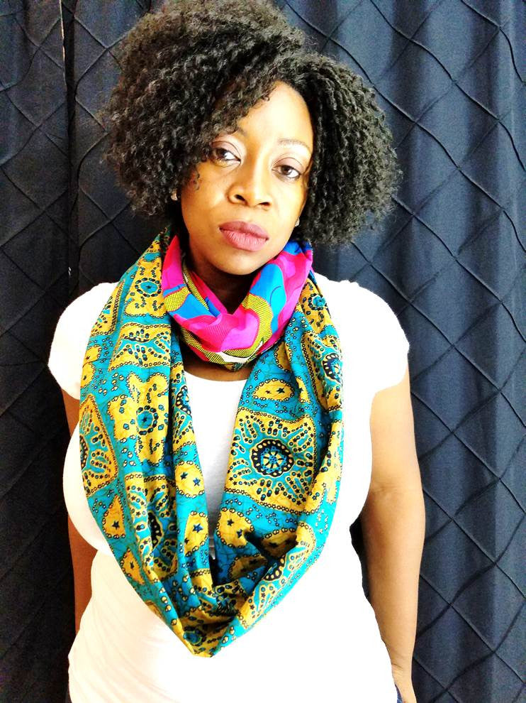 Aduke - African Print Infinity Scarf - A'Maze Africa - 3