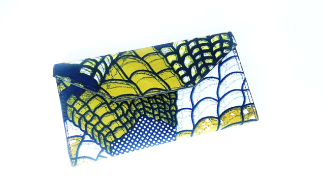 Women's African Print Leather Wallet - A'Maze Africa - 5