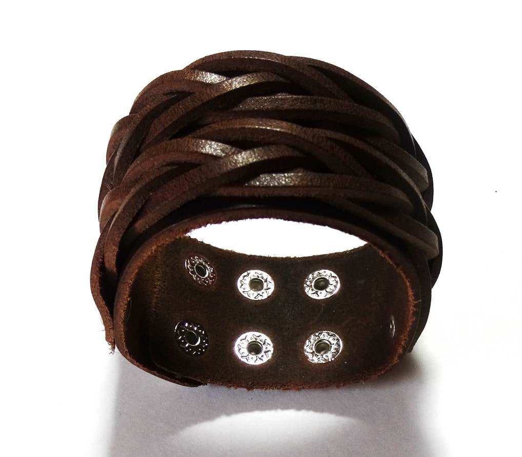 Amaze Men's Rugged Leather Bracelet - A'Maze Africa - 3