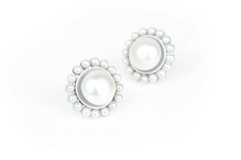Earring Classic All Pearl Sunflower