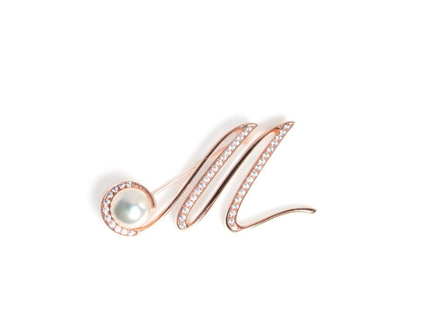 Brooch CZ The Letter Large (M)