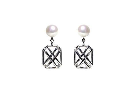 Earring Small Signature X Down