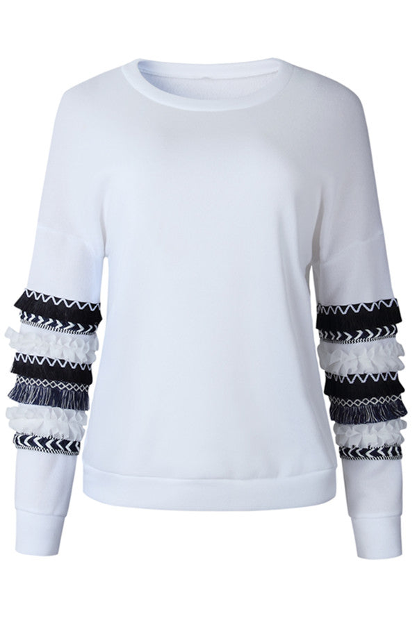 Chicnico Frilled Sleeve Pullover