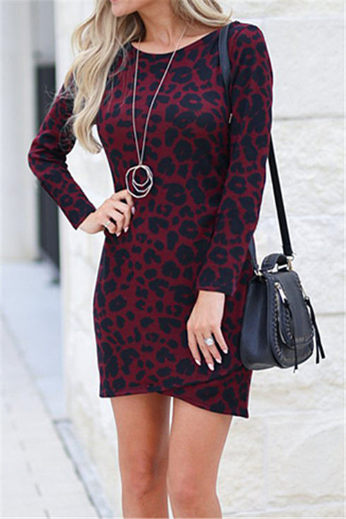 Chicnico Leopard Bodycon Dress