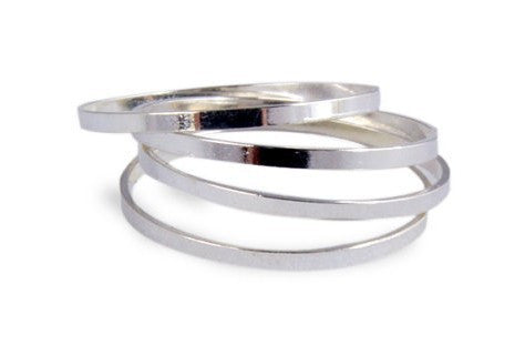 Simple  jewelry style Rings(set of 4)