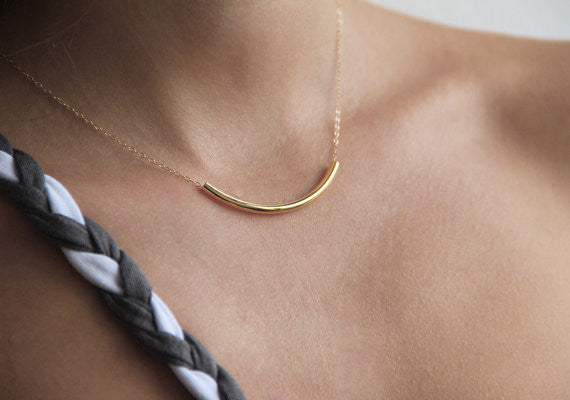 Chicnico Gold Simple Choker Necklace