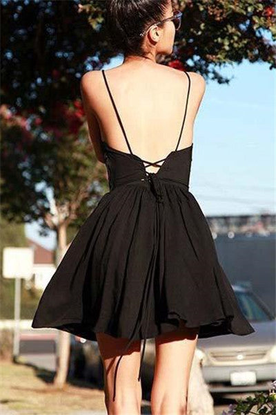 Chicnico Holiday Cute Lace Up Halter Dress