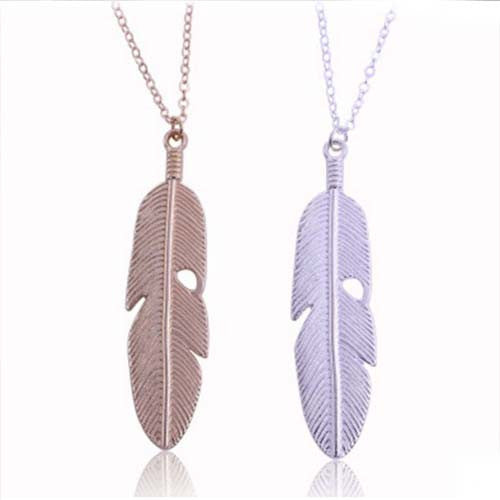 Chicnico Golden Leaf Pendant Necklace