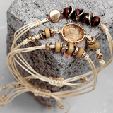 Chicnico Hemp Crystal Set Bracelet