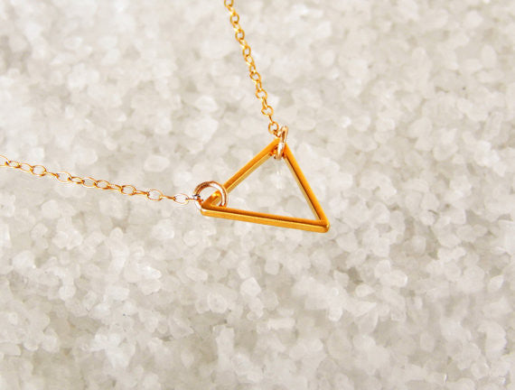 Chicnico Simple Triangle Pendant Necklace
