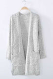 Women's Knit Going out Street chic Gray Long Sleeve Cotton Fall Sweaters Cardigan