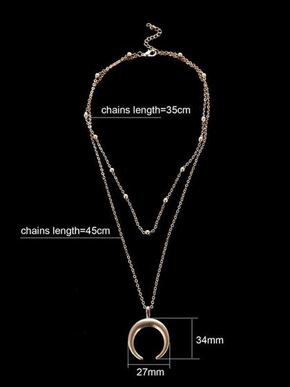 Chicnico Daily Fashion Alloy Moon Necklace