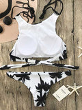 Chicnico Fashion Monochrome Forest Print Bikini Set