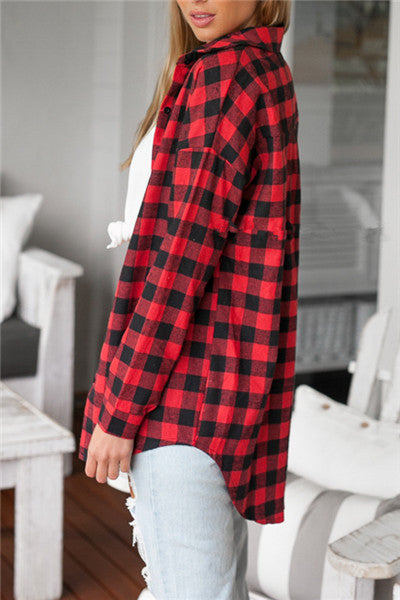 Chicnico Casual Plaid Shirt