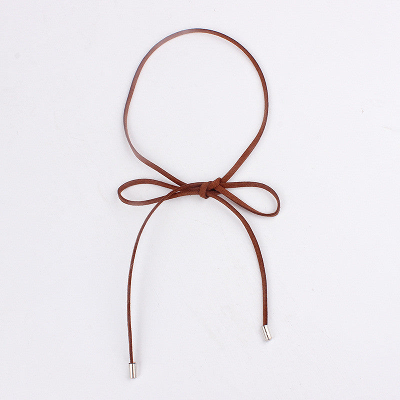 Chicnico Leather Simple Necklace