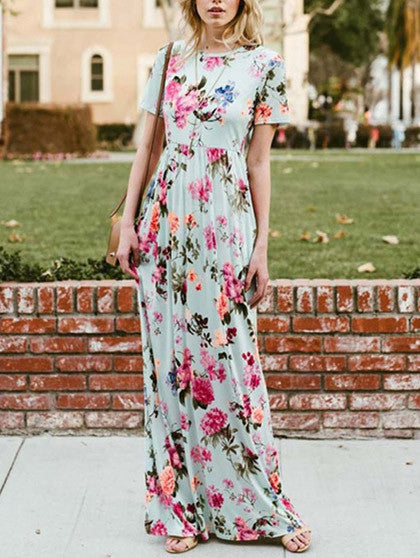 Chicnico Love Like No Other Floral Print Maxi Dress
