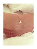 Chicnico Daily Exquisite Heart Anklet