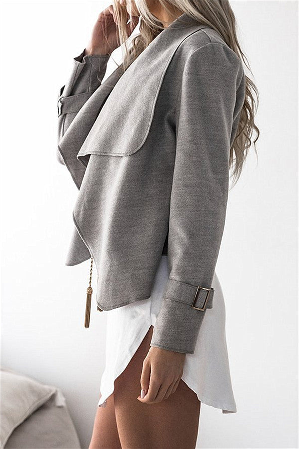 Chicnico Casual Crop Jacket