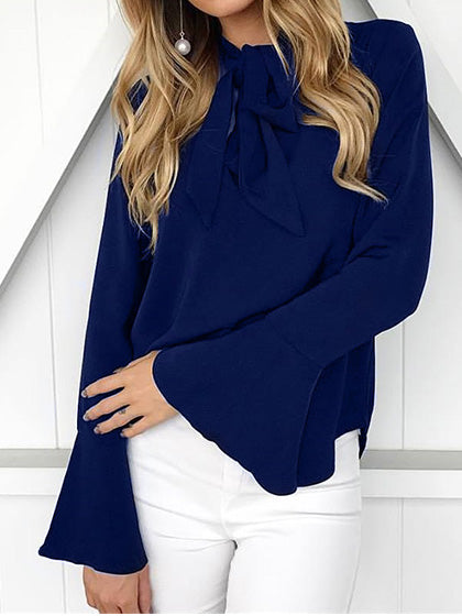 Chicnico Fashion Elegant Flared Sleeve Loose Blouse