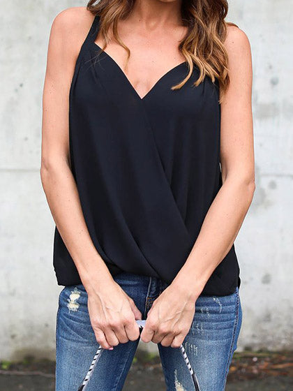Chicnico Sexy Sleeveless Solid Color Top Camisole