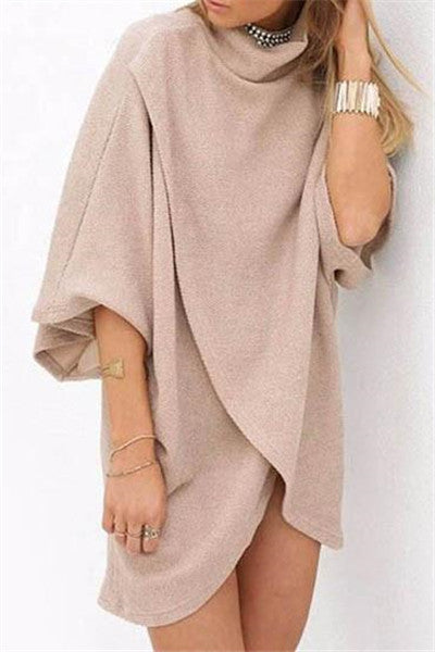 Chicnico Fall Fashion Sweater Ivory Oversize Coat