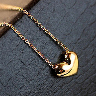 Chicnico Gold Heart Chain Choker