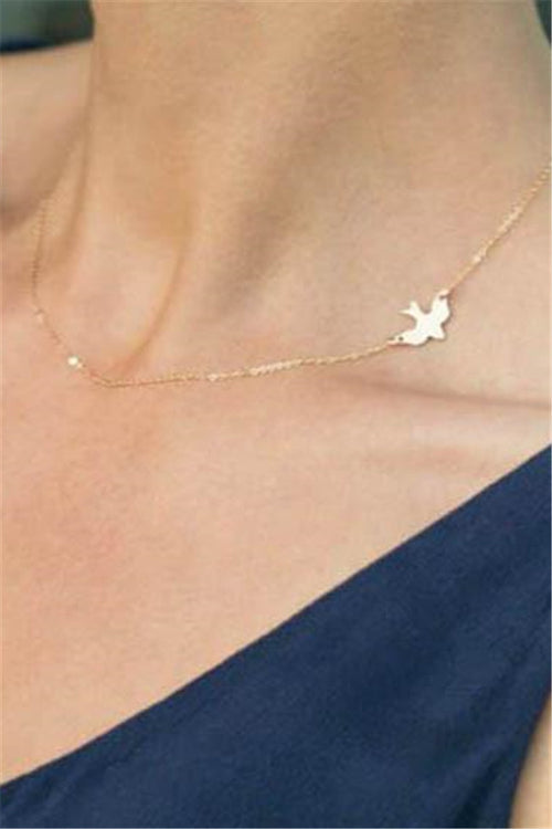 Chicnico Gold Bird style Necklace