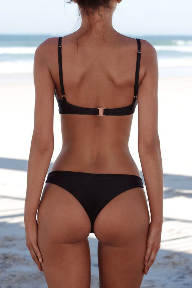 Chicnico Simple Plain Pure Bikini Set