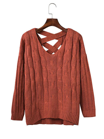 Chicnico Fashion Teenage Knit Solid Color Top