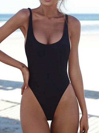 Chicnico Less Is More Solid Color One Piece Bikini