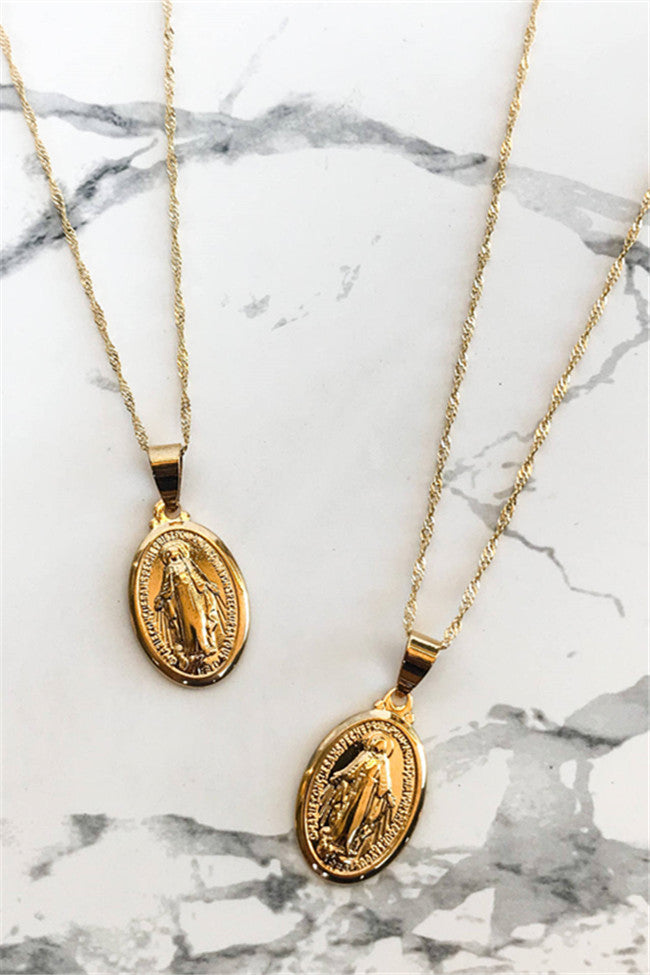 Chicnico Golden Mary Necklace