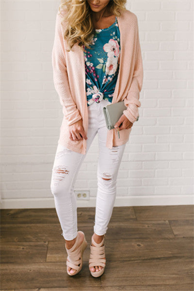 Chicnico Pink Lightweight Cardigan