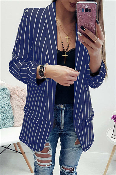 Chicnico Casual Striped Jacket