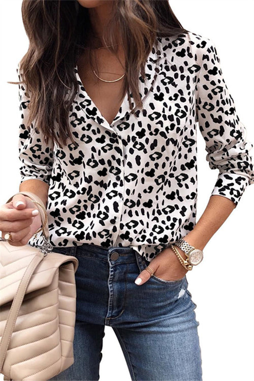Chicnico Fashion Leopard Printed Shirt