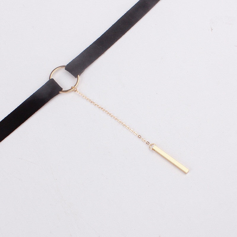 Chicnico Leather Simple Necklace Choker