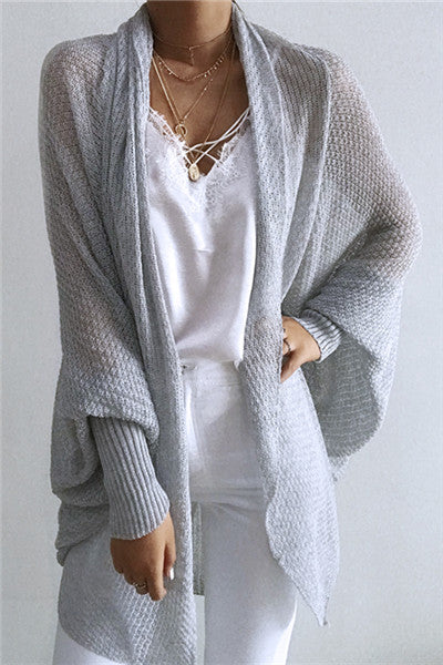Chicnico Casual Lightweight Oversized Cardigan