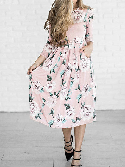 Chicnico You Are A Vision Floral Print Maxi Dress